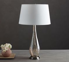 """31.25"""" h Sophia Crackled Console Lamp 