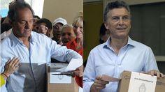 Elecciones 2015,Mauricio Macri,Daniel Scioli - LA NACION