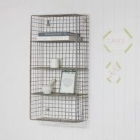 Wire metal shelf