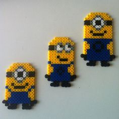 Minions Despicable me perler beads by iwar83