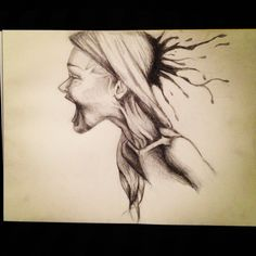 """Pencil on charcoal paper  """"So This Is Life?"""" By Jballs"""