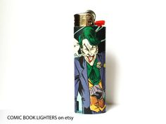 The Joker Comic Book Lighter by RemixComicBooks on Etsy