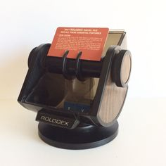 A personal favorite from my Etsy shop https://www.etsy.com/listing/498945930/retro-rolodex-sw-24c-mod-wood-grain