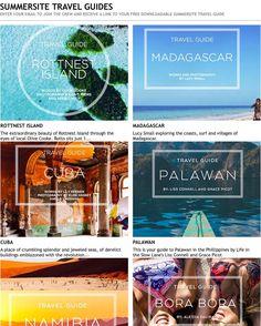 Summersite travel guides // download yours today #summersitejourneys #travelguides #chasingthesun #RottnestIsland @olivecooke  #Madagascar @luceyourself  #Cuba @lilyjkeanen  #Namibia @elisehassey  #Palawan @lifeintheslowlane  #BoraBora #Moorea @luvdeathmadness by summersite http://ift.tt/1L5GqLp