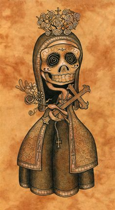 Santa Muerta- By Brandon Maldonado- and in my living room.