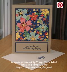 Simple card created using the Love & Affection Stamp Set and Affectionately Yours Specialty Designer Series Paper (DSP) from the Stampin' Up! 2016/2017 Annual Catalogue.  http://tracyelsom.stampinup.net