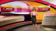 Mareille Höppner in leather skirt