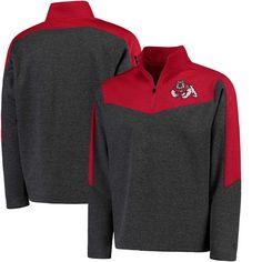 Fresno State Bulldogs Colosseum Top Gun Quarter-Zip Pullover Jacket - Charcoal/Navy