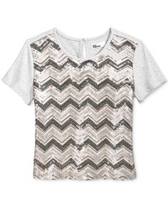 Epic Threads Sequin Top, Big Girls (7-16), Only at Macy's - Shirts & Tees - Kids & Baby - Macy's