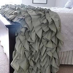 This gorgeous and luxurious ruffled throw is a wonderful gift for the home of family and friends who live in cold climates.