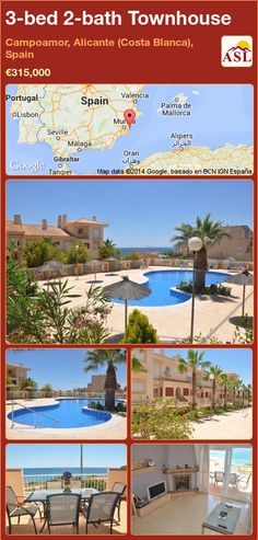 3-bed 2-bath Townhouse in Campoamor, Alicante (Costa Blanca), Spain ►€315,000 #PropertyForSaleInSpain