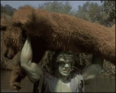 the hulk throwing a bear tv show - Google Search