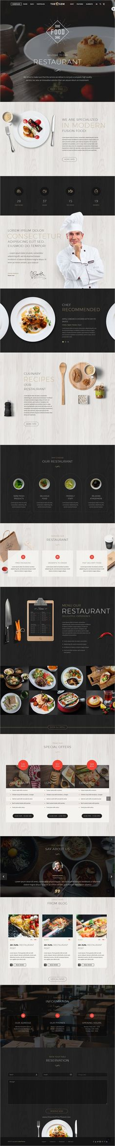 TheGem is a versatile #WordPress template with modern creative design for #restaurant business website with 40+ stunning homepage layouts download now➩