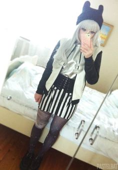 """Some """"darker"""" outfits from 2013 (*^▽^*) Pastel Goth Fashion, Dark Fashion, Grunge Fashion, Cute Fashion, Gothic Fashion, Fashion Ideas, Fashion Inspiration, Japanese Fashion, Asian Fashion"""