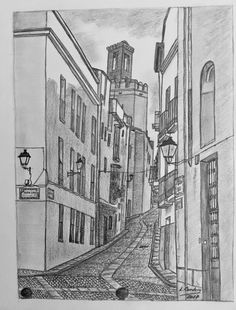 Calle El Brocense Street, Cities, Drawings, Pictures