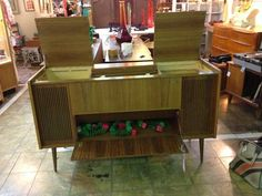 Mid Century Grundig Cabinet   Great to repurpose as a cocktail bar or iPod entertainment center.  Circa 1959  $95  Booth 766  Lula B's 2639 ...