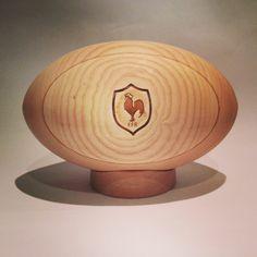 XV de France Ballon de rugby en bois