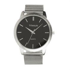 Titanium Men's Contemporary Mesh Band Watch #VonMaur #Titanium