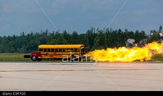 Waterloo, Ontario, Canada. 27th June, 2014. 6th annual Waterloo Air Show. Indy Boys Jet School Bus traveling at 367 MPH © Performance Image/Alamy Live News