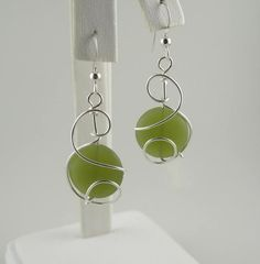 WSE-0075 Sea Glass Handmade Earring Wire by inspiredcreationsco