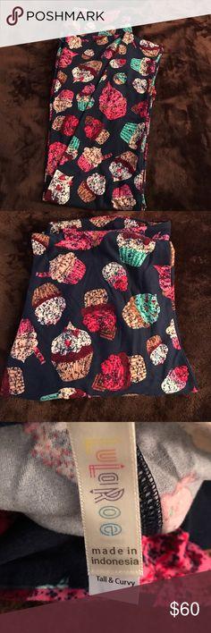 Brand New LuLaRoe TC Cupcake Leggings Brand New LuLaRoe cupcake leggings. Never worn or tried on! TC and made in Indonesia  LuLaRoe Pants Leggings
