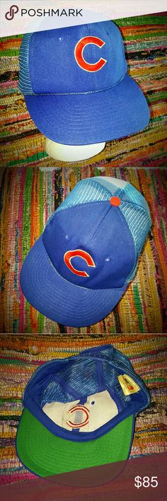 bd2d50e7 Shop Men's MLB Blue Red size OS Hats at a discounted price at Poshmark.  Hard to find one like it! One size fits most Never worn!