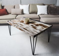by Sun Wood Design Tisch, Wood Design, Fossil, Furniture, Tables, Home Decor, Sun, Petrified Wood, Diy Coffee Table
