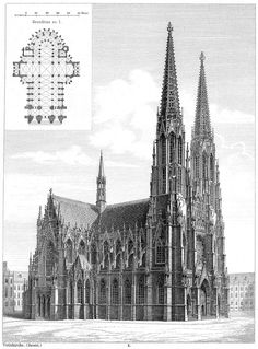 kk Albert Milde – Votivkirche, 1090 Wien, Rooseveltplatz The Effective Pictures We Offer You About christmas fondos A quality picture can tell you many things. Cathedral Architecture, Sacred Architecture, Classic Architecture, Historical Architecture, Amazing Architecture, Architecture Details, Landscape Architecture, Architecture Concept Drawings, Architectural Section