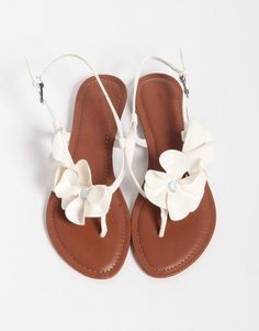 shoes flowers sandals flat since i don't do well in heels