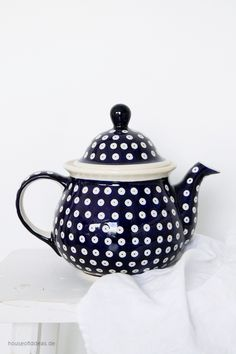 XL Teekanne Bunzlauer Keramik Pfauenauge 1,7 L