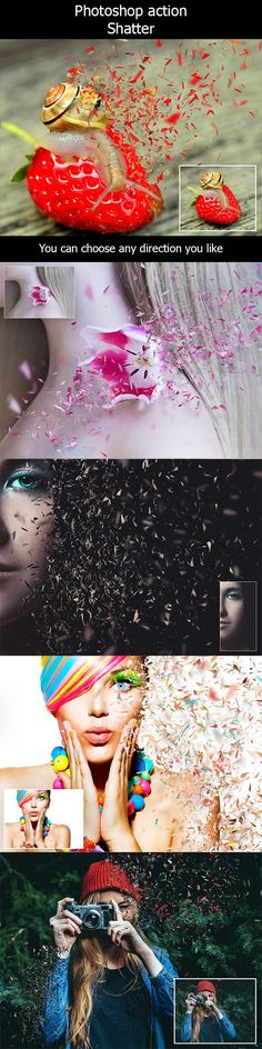 Shatter Photoshop Action - Photo Effects Actions