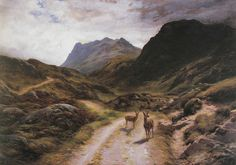 Road to Loch Maree.  Joseph Farquharson