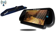 Tadibrothers 7 Inch Mirror with Wireless CCD Steel License Plate Backup Camera - http://www.productsforautomotive.com/tadibrothers-7-inch-mirror-with-wireless-ccd-steel-license-plate-backup-camera/