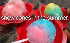 snow cones - little reason to smile