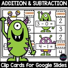 Develop subtraction fact fluency within 20 with this engaging activity! Your students should work out the subtraction and then click and drag the clothespin to the correct answer. FUN hands-on learning for your math centers or distance learning! Hands On Learning, Learning Activities, Teaching Ideas, Activity Games, Math Games, 12th Maths, Shape Games, Adding And Subtracting, 2nd Grade Math