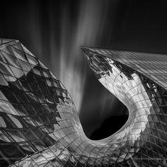 Emporia: The darker one by Dennis Berggren The Bund, The Dark One, Cloudy Day, The Darkest, Clouds, Architecture, Filter, Arquitetura, Architecture Design