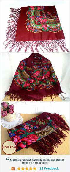 Free shipping when you buy shawl!! Sale,10% off when you buy shawl!! Russian bordo shawl https://www.etsy.com/USSRVintageShop65/listing/523500409/valentines-day-shawl-oversized-scarf?ref=shop_home_feat_4