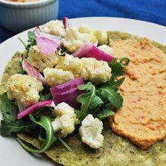 Recipe: Veggie Wrap with Red Pepper Chickpea Spread