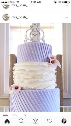 Custom 3 tier cake made by my cousin @mrs_posh_ on Instagram! 3 Tier Cake, Tiered Cakes, Celebration Cakes, Custom Cakes, How To Make Cake, Cake Designs, Vanilla Cake, Desserts, Instagram