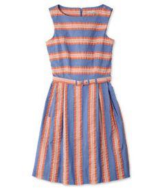 #LLBean: Signature Seersucker Sleeveless Dress, Stripes