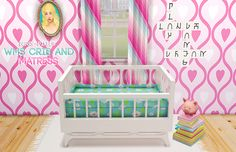 WMS Crib & Matress Recolor ♡So someone wanted me to recolor cribs so i…