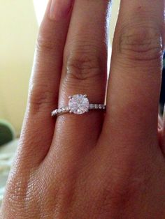 My Brilliant Earth engagement ring!!! I love it!!! So sparkly!!!!