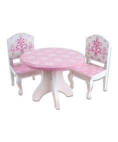 Another great find on #zulily! Table & Chair Set for 18'' Doll #zulilyfinds