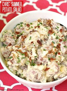 This is my go-to classic potato salad recipe. It's chunky and delicious and only gets better as it sits and marinates in flavor.