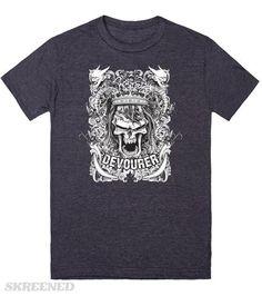 KRW King Skull and Demons Devourer T-Shirt | Gothic crowned skull surrounded by demons #Skreened