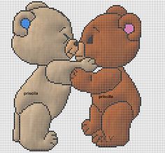 Charms in point cross teddy bears - x stitching вышивка крес Cross Stitch Baby, Cross Stitch Animals, Cross Stitch Charts, Cross Stitch Patterns, Bargello, Crochet Chart, Baby Blanket Crochet, Fabric Crafts, Smurfs