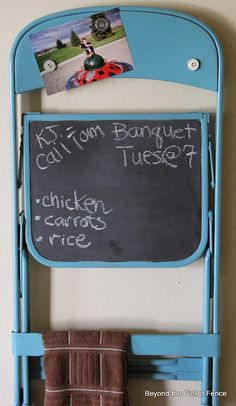Beyond The Picket Fence: Charming Chair Chalkboard