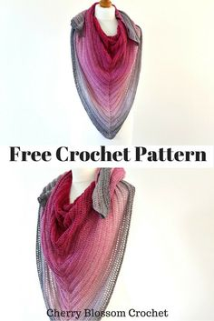 Hello! I have a fun crochet project for you this week, a gradient triangle scarf using Scheepjes Whirl and the colour is ' Night Time Bubb...