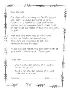 Pen pals friendly letter freebie writing letters pinterest teacher idea factory pen pals spiritdancerdesigns Choice Image