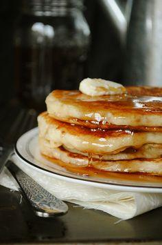 Buttermilk Pancakes.  Substitutes for buttermilk, including vegan buttermilk here: http://www.buzzle.com/articles/buttermilk-substitute-in-baking.html